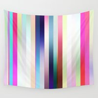 cocktail Wall Tapestries featuring Cocktail Stripe by GS Designs