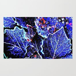 Rime Leaves Abstract Rug