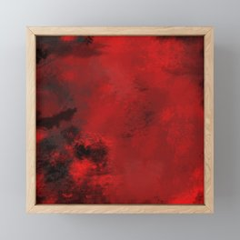 Red and Black Abstract Framed Mini Art Print