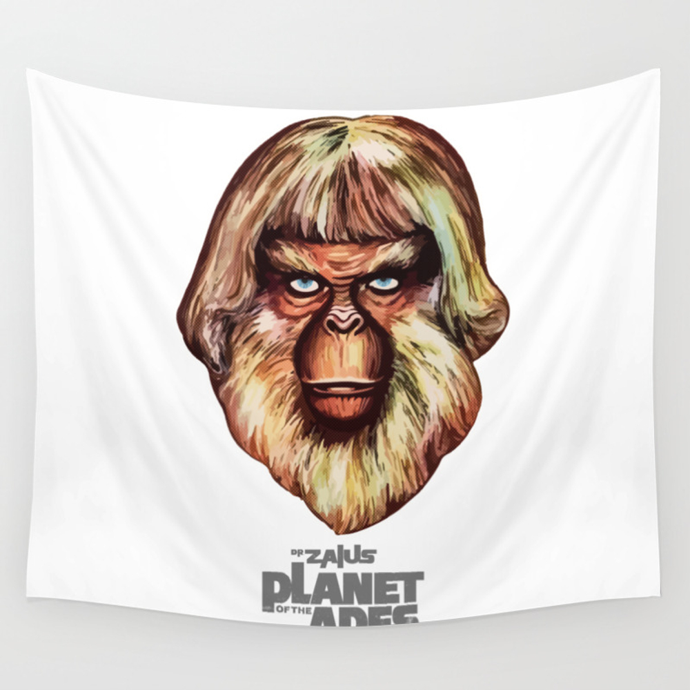 Planet Of The Apes - Dr. Zaius Wall Tapestry by Pinhead66 TPS6966352