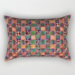 Mid Century Geometry Terracota Rectangular Pillow