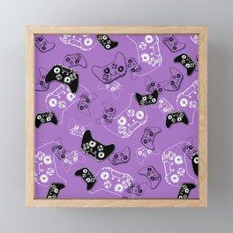 Video Game Lavender Framed Mini Art Print