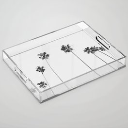 Black & White Palms Acrylic Tray