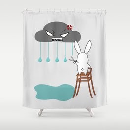 Stopping the rain Shower Curtain