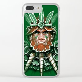 Wild Leprechan Clear iPhone Case