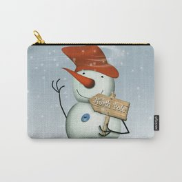 North Pole Bound Snowman Carry-All Pouch
