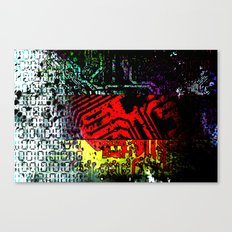 digital circuit board germany (Flag) Canvas Print
