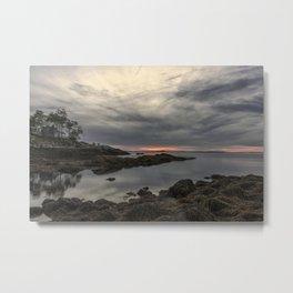 October Sunset at Plum cove Beach Metal Print