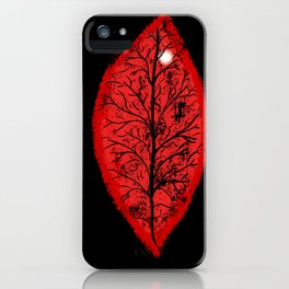 Halloween 3 Leaves iPhone Case