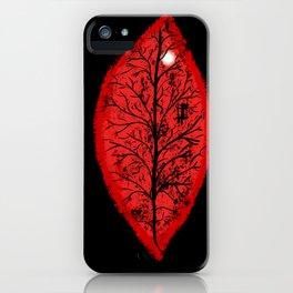 Halloween 3 Leaves iPhone Case
