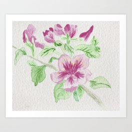 Flower on a Vine Art Print