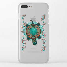 Visitors Anasazi Folk Art Clear iPhone Case