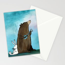 Campfire Bear Stationery Cards