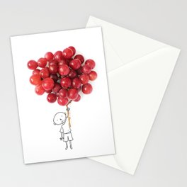 Boy with grapes - NatGeo version Stationery Cards