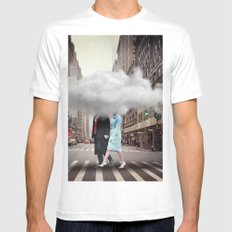 Under a Cloud MEDIUM Mens Fitted Tee White