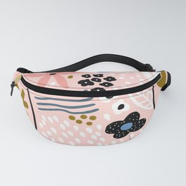 Pretty in Pink Trendy Floral Print Fanny Pack