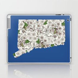 Connecticut in Flowers Laptop & iPad Skin