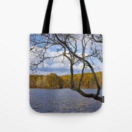 Autumn at Hall Lake by Yankee Springs in Michigan Tote Bag