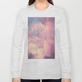 Candy Glitched Sky Long Sleeve T-shirt