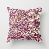 sofa Throw Pillows featuring floral sofa by vibeyantlers