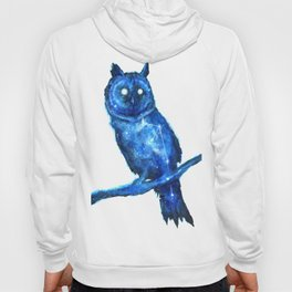 Owl Painting | Space Owl | Owl Constellation | Cosmic Owl | Blue Owl Hoody