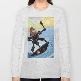 Dieruma Robot Surfer Long Sleeve T-shirt