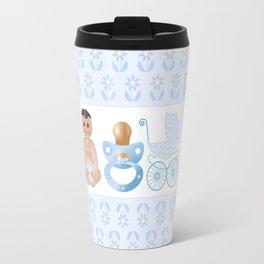 Baby Blue, Baby Boy, Blue Bottle, Bottle, Blue Pacifier, Pacifier, Blue Pram, Pram Travel Mug