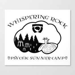 Whispering Rock Psychic Summer Camp Canvas Print