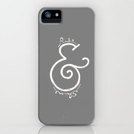 """rise & shine"" Ampersand iPhone Case"
