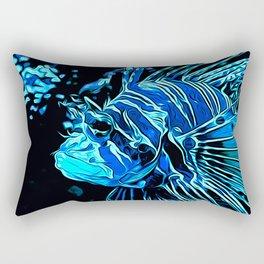 lionfish vector art blue Rectangular Pillow