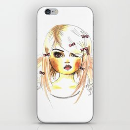 Girl with ribbons iPhone Skin