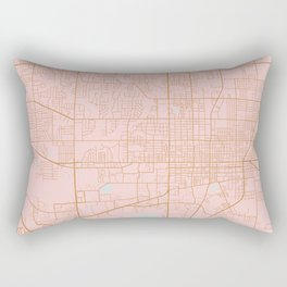 Gainesville map, Florida Rectangular Pillow