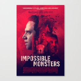 """""""Impossible Monsters"""" Theatrical Movie Poster Canvas Print"""