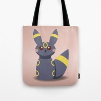 umbreon Tote Bags featuring Evolution Bobbles - Umbreon by creativeesc