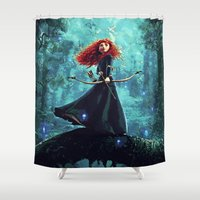 be brave Shower Curtains featuring Brave by Juniper Vinetree
