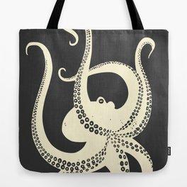 Octopus in black Tote Bag