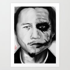 Heath/Joker Art Print