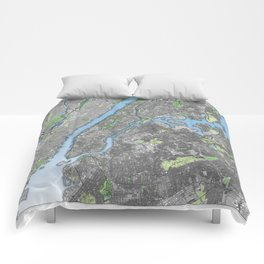 New York City in Color Comforters