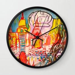 Ayutthaya in Thailand Wall Clock