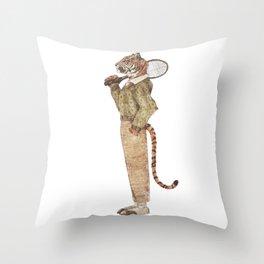Tiger Tennis Club Throw Pillow