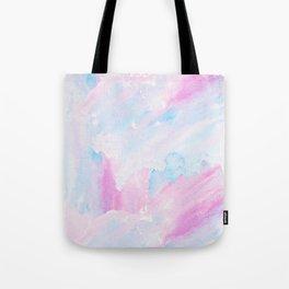 Modern pastel pink teal hand painted watercolor pattern Tote Bag