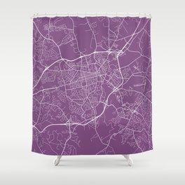 Athens Map, USA - Purple Shower Curtain