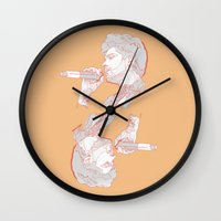 zayn Wall Clocks featuring Zayn by heyitsmme