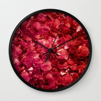 ruby Wall Clocks featuring Ruby by Lotus Effects
