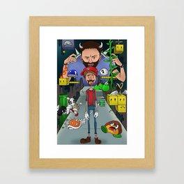 Mario Maker World Championships Framed Art Print