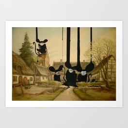 Mad monkeys Art Print