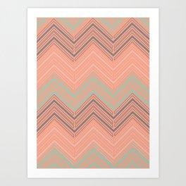 Soft Chevron Art Print