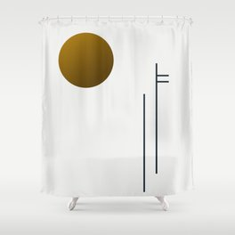 Soir 05 // ABSTRACT GEOMETRY MINIMALIST ILLUSTRATION Shower Curtain