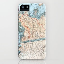 Vintage Map of Alaska (1921) iPhone Case