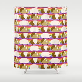 Rainbow Guinea Pigs Shower Curtain